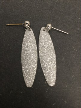 Earrings - Full glitter drop charm.
