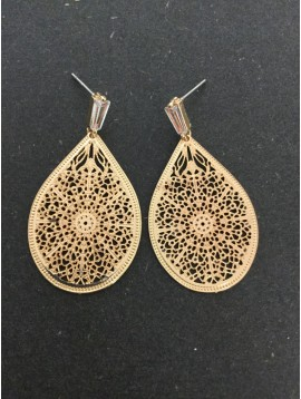 Earrings - Filigree drop charm.