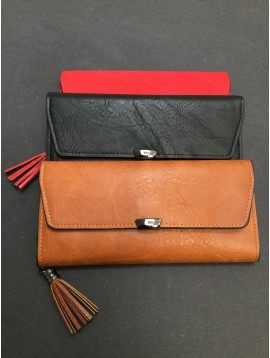 Wallet - Plain color with flap and removable card holder.
