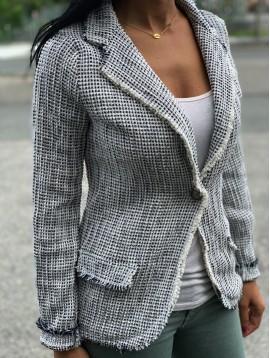 Veste style tweed lurex