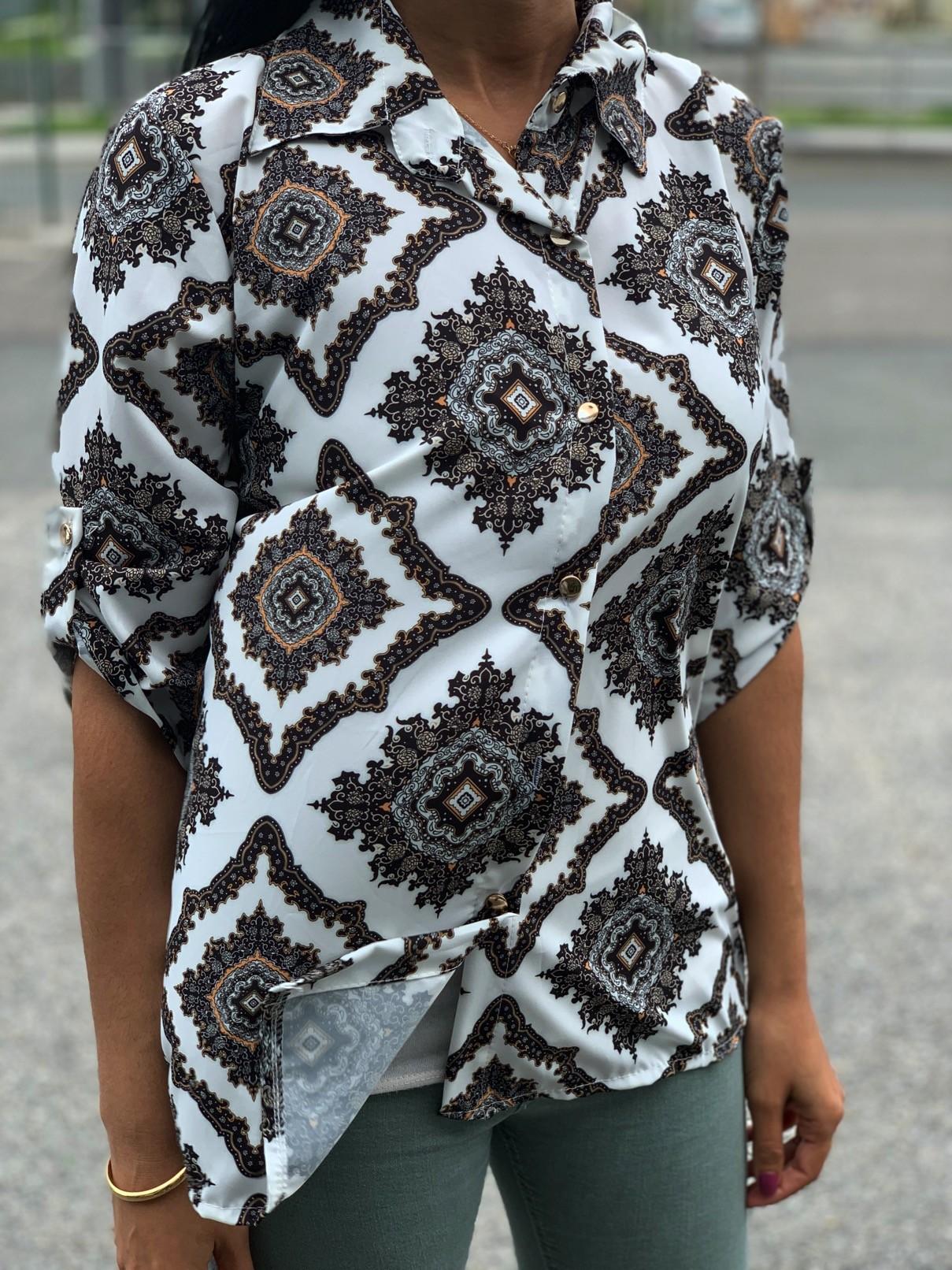 Tunique chemise imprimé cashemire