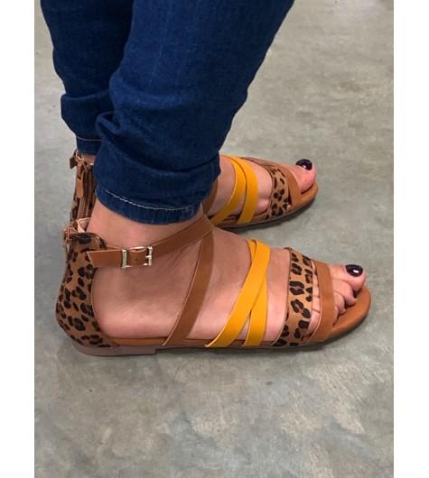 Sandales imprimée léopard