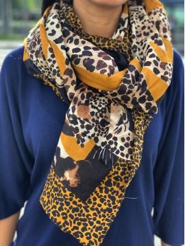 Etole motif grands léopard et cadre