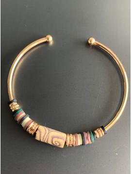 Bracelet - Cordon avec pierres et perles de lave