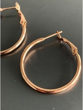 Stainless Steel Earrings - Plain color simple hoops.