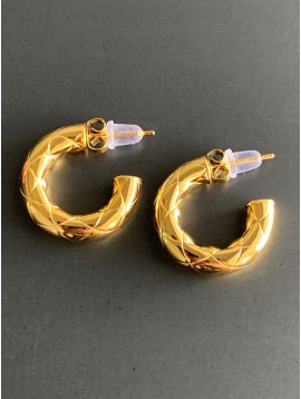 Stainless Steel Earrings - Padded style hoops.