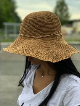 Chapeau style crochet avec lien