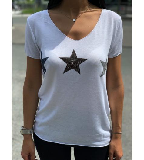 Tshirt manches courtes avec 3 étoiles devant