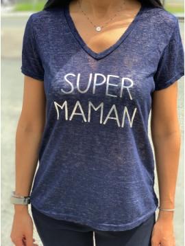 Tshirt manches courtes SUPER MAMAN
