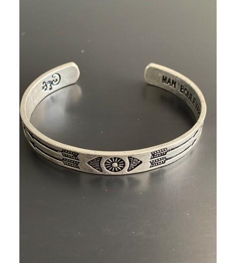Bracelet - Jonc ouvert métal vieilli avec flèches