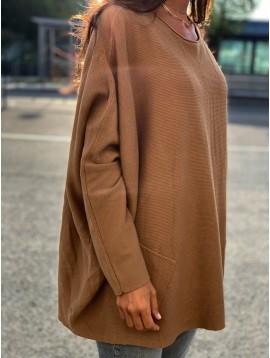 Poncho manches avec 2 poches sur les côtés