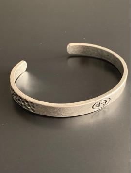 Bracelet - Jonc ouvert métal vieilli avec ancre