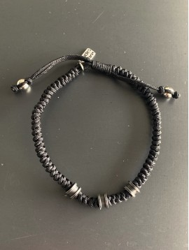 Bracelet Aimant - Tresse cuir