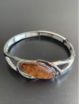Bracelet éla - Goutte en résine avec métal