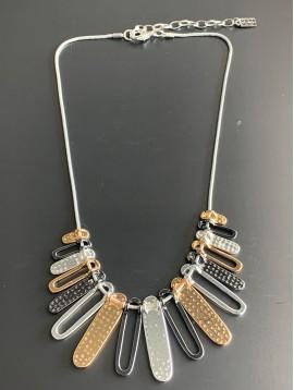 Collier - Lamelles en métal pleines et ajourées