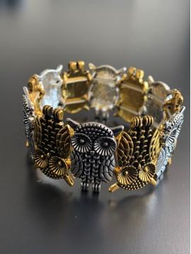 Bracelet éla - Chouettes tête bèche