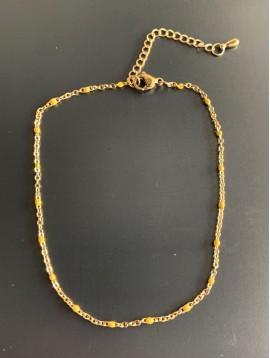 Chaine cheville Acier - Chaine fine avec mini perles