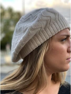 Beret tricot avec lurex
