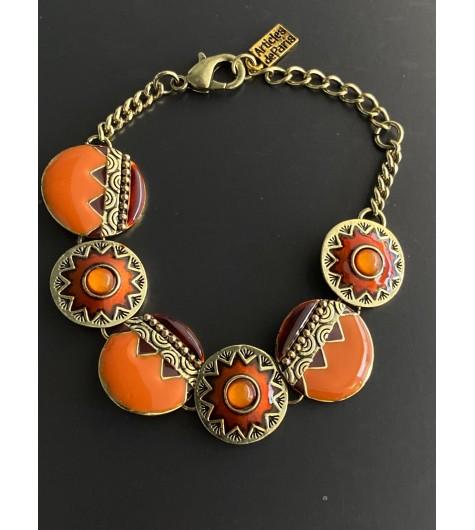 Bracelet - Ronds style mosaiques avec perles facettes pendantes