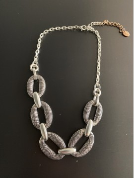 Collier - Ovales style quadrillage