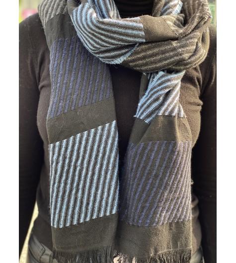 Echarpe tricot diagonal