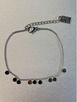 Bracelet Acier - Pastilles miroir sur chaine fine