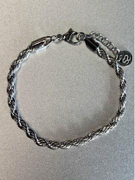 Bracelet Acier - Maille corde