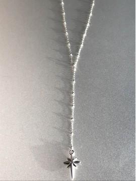 Collier Acier Long - Pendentif étoile polaire