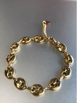Bracelet Acier - Maille grains de café