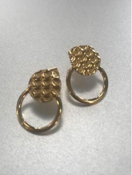 BO percées Acier - Pastille façon écailles et anneau