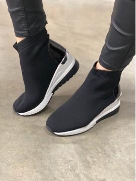 Baskets chaussettes semelle compensée