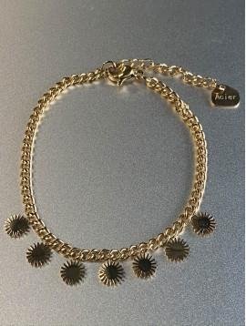Bracelet Acier - Petits soleil sur chaine fine