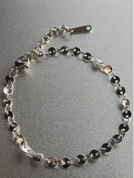Bracelet Acier - Petits ronds style grain de café