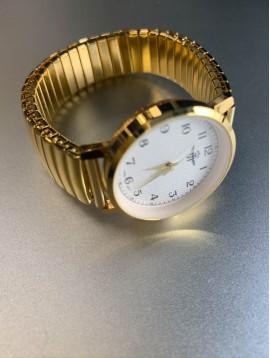 Montre - Bracelet éla métal cadran rond avec chiffres