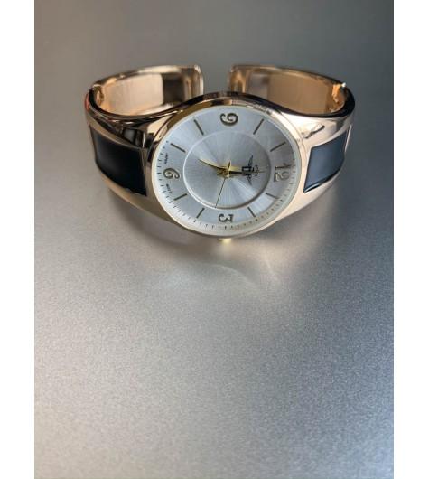 Montre - Bracelet clip métal avec rectangle couleur peinture