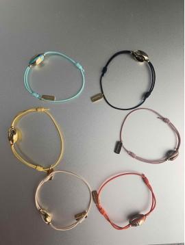 Bracelet éla - Cauri sur cordon élastique de couleur