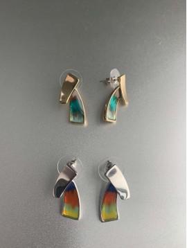 BO percées - Trapèze en métal et peinture multi