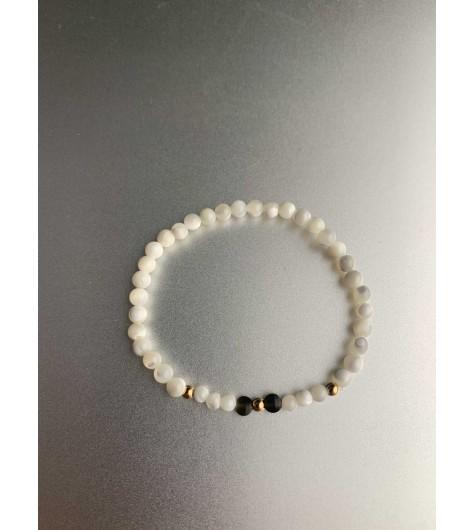 Bracelet éla - Perles culture et 2 perles facettes