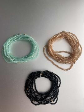 Bracelet éla - Multirangs de perles à facettes