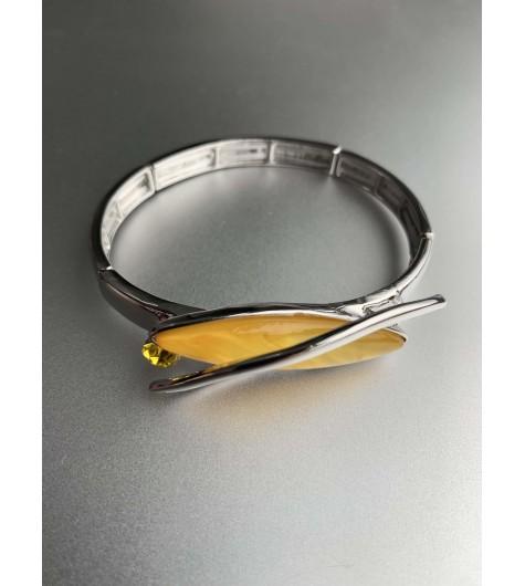 Bracelet éla - Goutte résine et métal avec strass