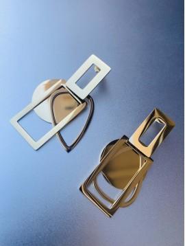 BO percées Acier - Gouttes/rectangles et ronds façon miroir