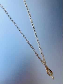 Collier Acier - Cauri avec étoile sur chaine maillon moyen