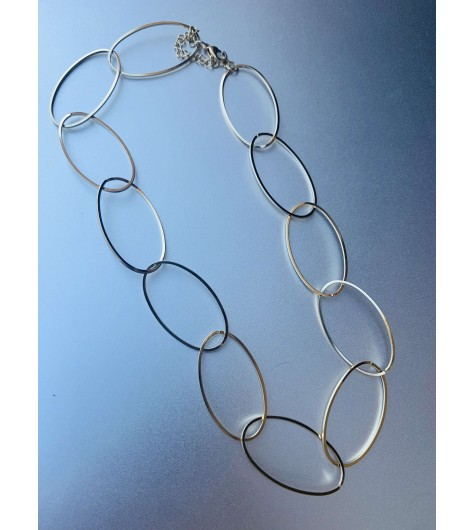 Collier Acier - Gros maillons ovales fins