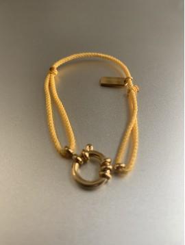 Bracelet Acier - Gros fermoir sur cordon