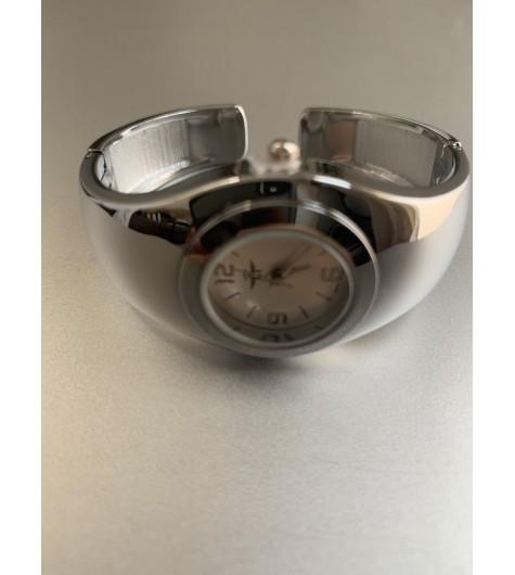 Montre - Bracelet clip métal petit cadran rond