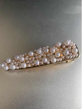 Barrette à cheveux - Pince dessus tout perles rondes