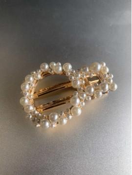 Barrette à cheveux - Rond en perles rondes