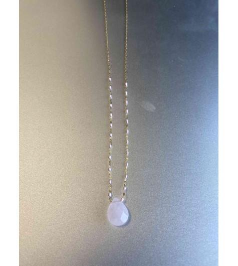 Collier Acier - Mini perles sur chaine à petits maillons