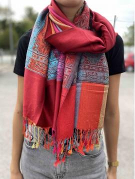 Etole bandes colorées arabesques et franges