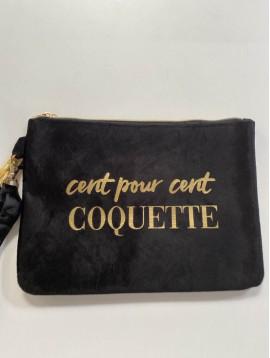 """Maro PM/pochette velours""""Cent pour cent coquette"""""""